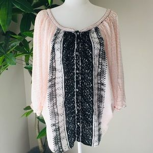 Free People button down blouse